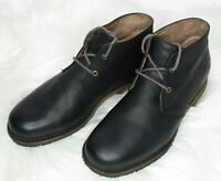 UGG AUSTRALIA Leather Black Chukka Lace Up Shoes Ankle Boot 1017272 Men's Sz 9.5
