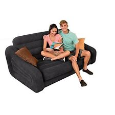 Double Sofa Bed Pull Out Inflatable Airbed Camping Chair Seat Couch Mattress New