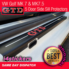 VW Golf GTD MK6 MK6 MK7.5 Side Door Sill Protectors  vinyl (5 door)