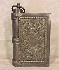 Vintage Italia Fuso Pewter Flask Shaped Like a Book