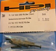 HPI Part #Z581 Flat Head Screw 3x18 (10)for the Savage X 4.6/XL/Bullet ST/MT 3.0