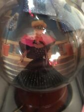 Vintage 1998 Holiday Barbie Decoupage Ornament With Hanging Stand