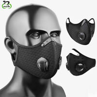 Resuable Cycling Face Cover with Filter Mouth Muffle Motorcycle Dustproof Hats