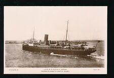 Channel Islands JERSEY Elizabeth Castle SS Sarnia RP PPC sunk 1918 by torpedo