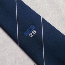 BICS 25 COMPANY LOGO TIE VINTAGE RETRO NAVY 1980s 1990s CLUB ASSOCIATION