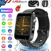 Waterproof Bluetooth Smart Watch Sport Heart Rate Blood Pressure For Android IOS