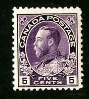 Canada Stamps # 112 VF OG NH Scott Value $100.00