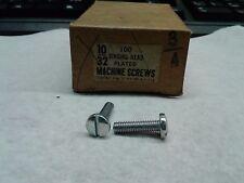 BINDING HEAD MACHINE SCREWS 10-32 X 3-4, PK75 (2G3-001-75*A)