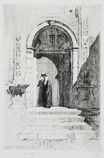 SIR LIONEL LINDSAY (1874-1961) RARE Original Etching Spain 1919 Norman Lindsay