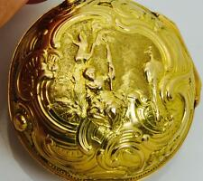WOW! Museum Martineau 22k coin gold pair case Repousse Verge Fusee pocket watch