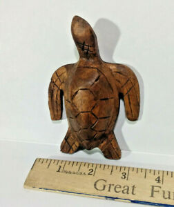 Small Hard Wood Turtle, Hand Carved, Made in Bali, Indonesia,