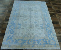 6'x9' New Hand knotted wool Antiqued Turkish Oushak Oriental area rug