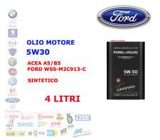 4 LT OLIO MOTORE AUTO BENZINA DIESEL 5W30 FORD VOLVO ACEA A5/B5 WSS-M2C913-D