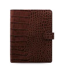 Filofax Classic Croc A5 Size Organizer/Planner Chestnut Leather 17- 026017