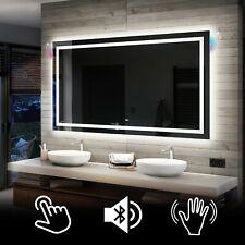 Illuminated LED Bathroom Backlit Mirror TOUCH  or SENSOR SWITCH | BLUETOOTH | 15