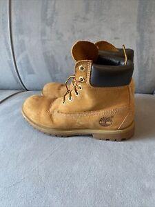 TIMBERLAND 10361 BOOTS Wheat Nubuck Leather Waterproof Women's SZ 7M