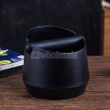 Coffee Knock Box Handle Barista Compact Anti Slip Grind Tamper Waste Black
