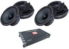 """Power Acoustik 3000W Combo CB4-1800 4ch Amplifier + 4x MID-65 6.5"""" Speakers"""