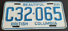 British Columbia License Plate C32-065 1966 Commercial Truck Plate