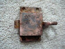 ANTIQUE CAST IRON FINGER PULL DOOR CABINET LATCH COPPER FINISH SALVAGED HARDWARE