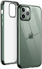 "UGREEN Apple iPhone 11 Pro 5.8"" Shockproof Flexible Case Clear & Midnight Green"