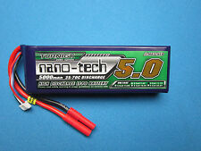 NANO-TECH 5000mAh 3S 11.1V 35C LIPO BATTERY TRAXXAS E-REVO SLASH 4X4 VXL SAVAGE