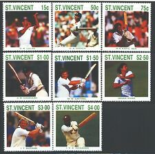 ST. VINCENT Sc1108-15 SG1144-51 MNH 1989 Cricket Players SCV$9