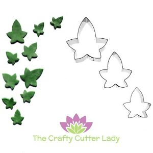 Ivy Leaf Cutters Ivy 3 Set for Sugarcraft Clay Flowerpaste and Cake Decoration