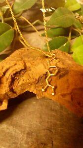 MDMA Molecule DNA genetic structure pendant necklace