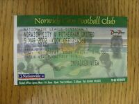 05/03/2002 Ticket: Norwich City v Rotherham United  . Thanks for viewing our ite
