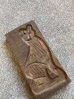 Vintage Ginger Bread Moulds Antique Bear Dutch German Wood Carved Wall Hanging
