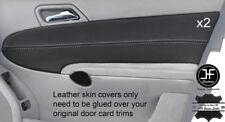 Grey stitch 2X porte carte en cuir couvre pour MERCEDES CLASSE C W203 01-07