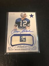 ROGER STAUBACH cowboys 2015 PANINI FLAWLESS AUTOGRAPH PATCH 8/20