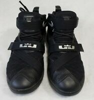 Nike Lebron James Soldier 9 Black Mid Top Basketball Shoes Youth Size 4.5Y