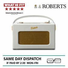 Roberts Revival iSTREAM3 Portable DAB+ / FM Retro Smart Bluetooth Radio White