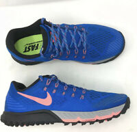 Nike Men's Sz 10.5 Air Zoom Terra Kiger 3 Blue Trail Running Hiking NEW 749335