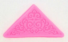 Corner Scroll Lace Silicone Mold for Fondant, GP, Chocolate, Crafts NEW