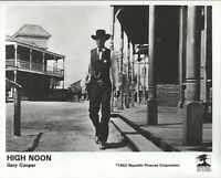 High Noon Gary Cooper Promo Press Release 8X10 B/W Glossy Photograph