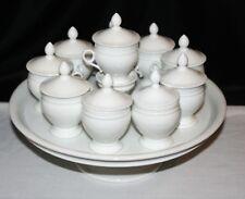 Service à crème blanc Porcelaine de Paris
