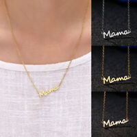 Silver Gold Letter Mama Pendant Necklace Fashion Jewelry Gift Mother's Day 07AU