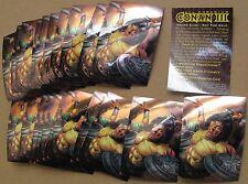Conan III Chromium promo cards (22 of same card) 1995 Comic Images Savage Sword