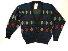 Urban outfitters Vintage Renewal Retro Argyle Blue Cardigan Size M