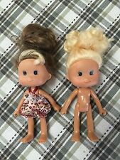 """Lot Of 2 Small Toddler Dolls 5"""" GUC"""