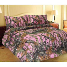 The Woods King Pink Camo 7 Piece Bedding Set Comforter and Sheets