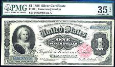 1886 $1 SILVER CER-18 KNOWN ONLY-FR#221-PMG35-RAREST MARTHA