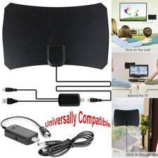 Indoor Digital HDTV TV Antenna + Aerial Amplified 75 Mile Range VHF UHF Freeview