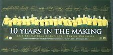 AUSTRALIAN WALLABIES 10 YEARS IN THE MAKING HAND SIGNED LIMITED EDITION PRINT