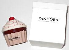 A Pandora Cupcake Jewelry Trinket Holder Susan G Komen Cancer Awareness In Box