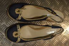 Morgan De Toi Blue Denim Effect Wedge Sandal Shoes Size 7
