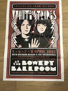 THE WHITE STRIPES/MC5 NY Bowery Ballroom 4/2002 USA FOLDED Poster DENNIS LOREN
